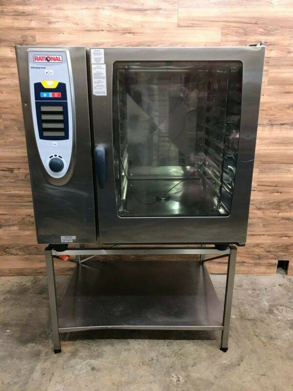 Rational SCC-102 Full Size 10 Pan Combi Oven with Stand, Natural Gas