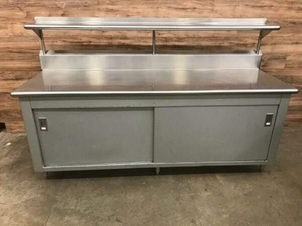 Stainless Steel Worktop Cabinet with Overshelf