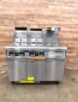 2009 Frymaster FMP245EBLSC Dual Fryer System,Dump Station, Natural Gas, Filtration