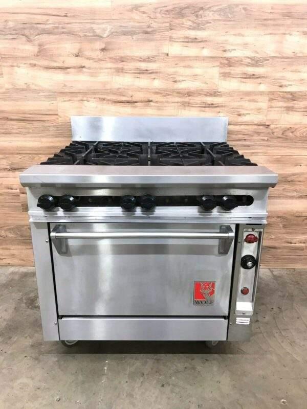 Wolf FV363-232 6 Burner Range w/ Standard Oven, Natural Gas