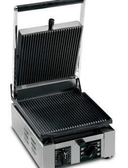 Univex PPRESS1.5R Single Commercial Panini Press w/ Cast Iron Grooved Plates