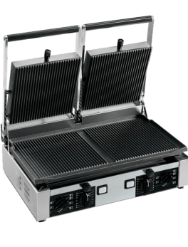 Univex Double Panini Press w/ Grooved Plates