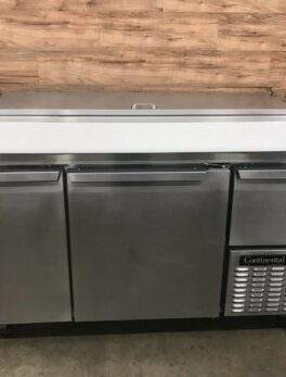 """2017 Continental Refrigerated Pizza Prep Table, 60""""W, 2-Section"""
