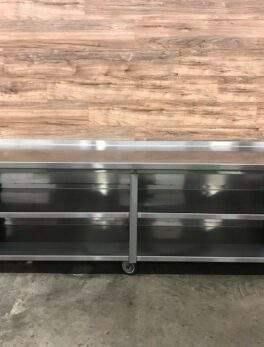 """103"""" Stainless Steel Dish Cabinet w/ Mid Shelf"""