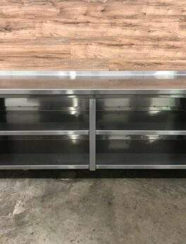 """86"""" Stainless Steel Dish Cabinet w/ Mid Shelf"""