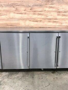 3 Solid Door Back Bar Refrigerator